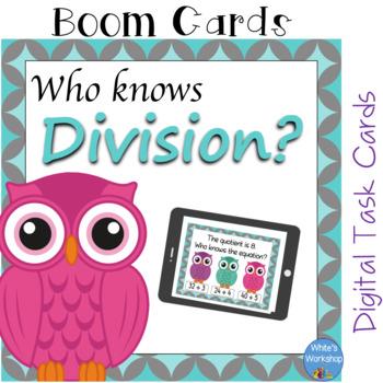 Division Digital Task Cards: Boom Cards