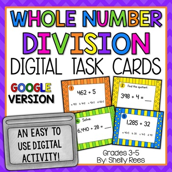 Division Digital Task Cards Google Version