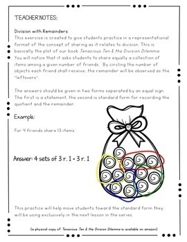 Division Dilemma {Digital Picture Book and Reinforcement Activities}
