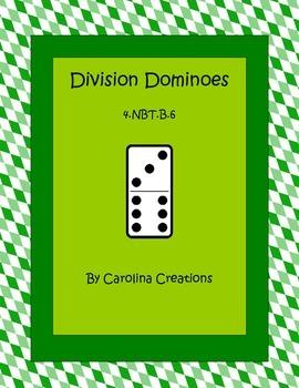 Division Dominoes Fourth Grade Common Core Math 4.NBT.B.6