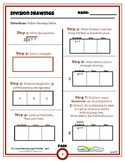 Division Drawings Rectangular Area Model for Long Division (Worksheets)(Games)