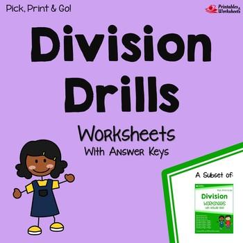 Division Drills Worksheets