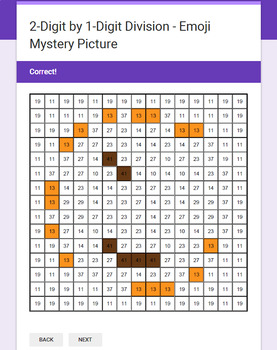Division Emoji Mystery Pictures Bundle - Google Forms