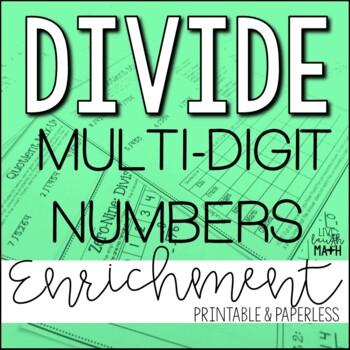 Division Enrichment: Division Logic Puzzles