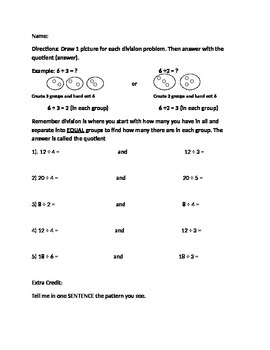 Division Equal Grouping Review
