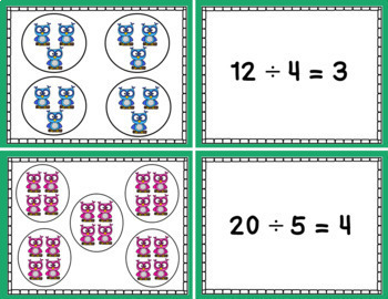 Division Equal Groups Matching Cards