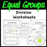 Division Equal Groups Worksheets
