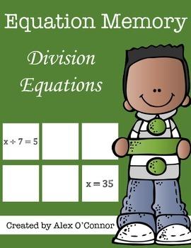 Equation Memory: Division Equations