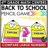 Comparing Large Numbers Back to School Game