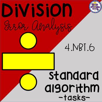 Division Error Analysis: Standard Algorithm / Long Divisio