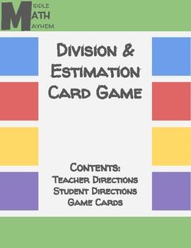 Division & Estimation Card Game
