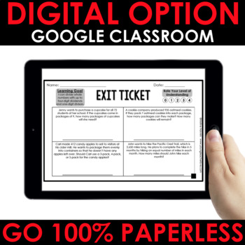 Division Exit Tickets (Differentiated For Grades 3-5)