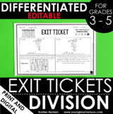 Division Exit Tickets - Differentiated Math Assessments -
