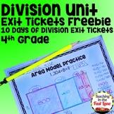 Division Exit Tickets FREEBIE