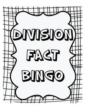 Division Fact Bingo!