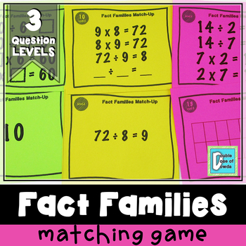 Division Fact Families Matching Game