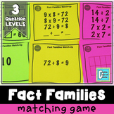 Multiplication Division Fact Families Matching Activity Game