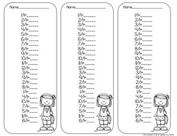 Division Fact Family Tests