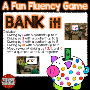 Division Fact Fluency: 1, 2, 5, 10, and Mixed to 12 Interactive Game