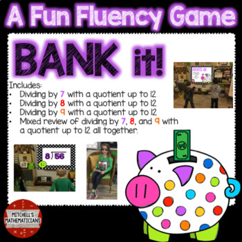 Division Fact Fluency: 7, 8, 9, and Mixed to 12 Interactive Game