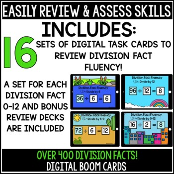 Division Fact Fluency Boom Cards