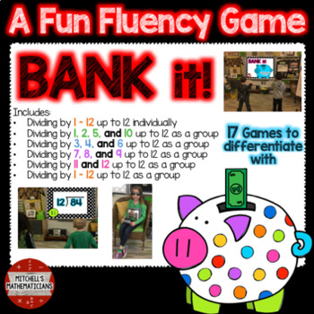 Division Fact Fluency: Dividing by 1-12 MEGA BUNDLE Interactive Game