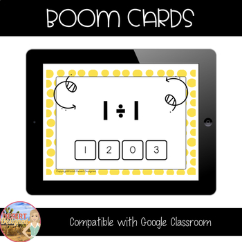 Division Fact Fluency - Dividing with 0, 1, & 2 - Boom Cards