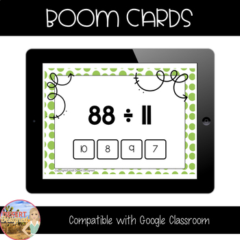Division Fact Fluency - Divisors of 10, 11, & 12 - Boom Cards