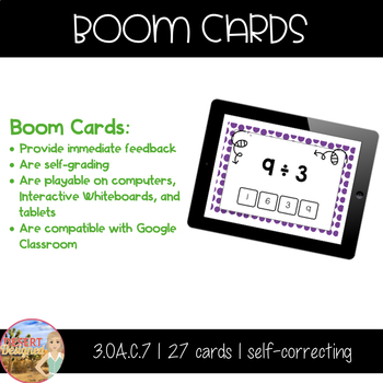 Division Fact Fluency - Divisors of 3, 4, & 5 - Boom Cards