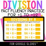 Division Fact Fluency Practice Digital Math Center for Goo
