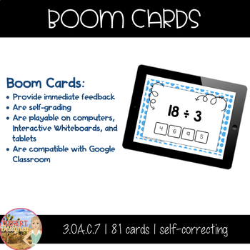 Division Fact Fluency - Single Digit Quotients - Boom Cards