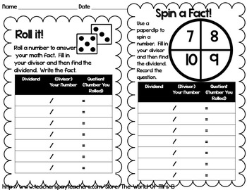 Division Fact Fluency System