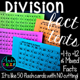 Division Fact Fluency Tents | Division Flash Cards