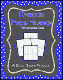 Division Fact Fluency Timed Tests - Horizontal 50