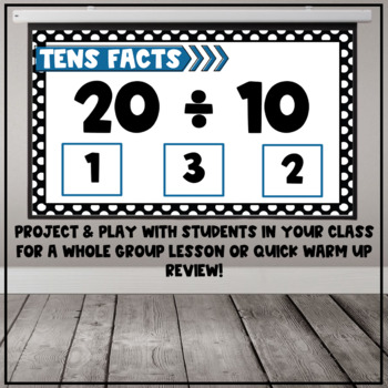 Division Fact Interactive PDF - 10s Facts