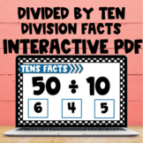 Division Fact Interactive PDF and Boom Cards - Dividing by