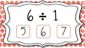 Division Fact Interactive PDF - 1s Facts - Freebie