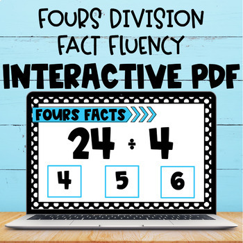 Division Fact Interactive PDF - 4s Facts