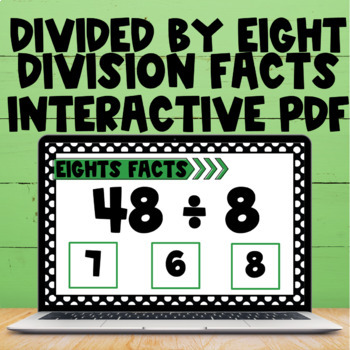 Division Fact Interactive PDF - 8s Facts
