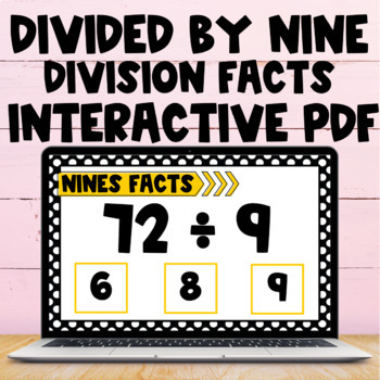 Division Fact Interactive PDF - 9s Facts
