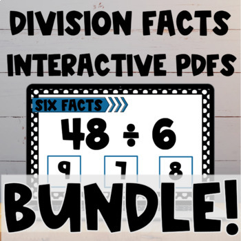 Division Fact Interactive PDF BUNDLE