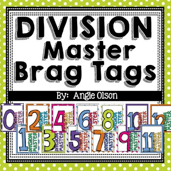 Division Fact Master Brag Tags