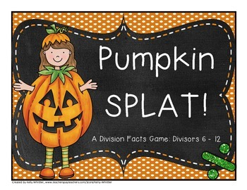 Division Fact Practice - Divisors 6 - 12 - Pumpkin Themed!