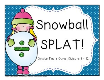 Division Fact Practice - Divisors 6 - 12 - Snow Themed!