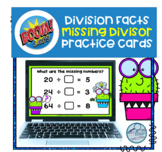 Division Fact Practice Missing Divisor Boom Cards