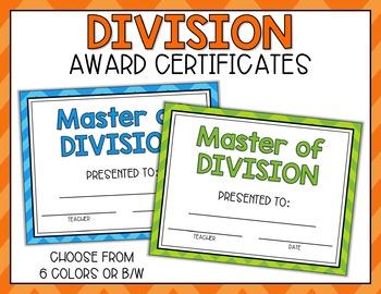 Division Fact Punch Cards, Certificates, Reward Bracelets - Cute Owl Theme
