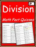 Division Fact Quizzes