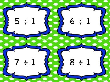 Division Fact Task Cards