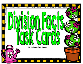 Division Fact Task Cards-Spring Theme