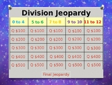Division Facts 0 to 12 Jeopardy Power Point Game